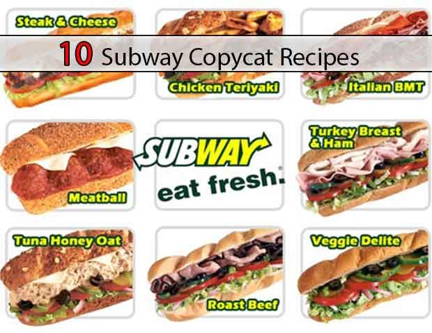 10 Subway Copycat Recipes - LivingGreenAndFrugally.com
