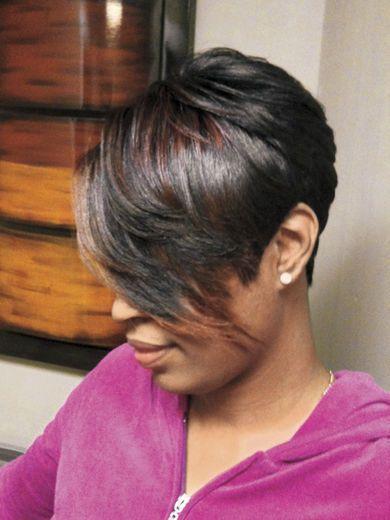 Yup, love this cut! Super short hair in back long bangs