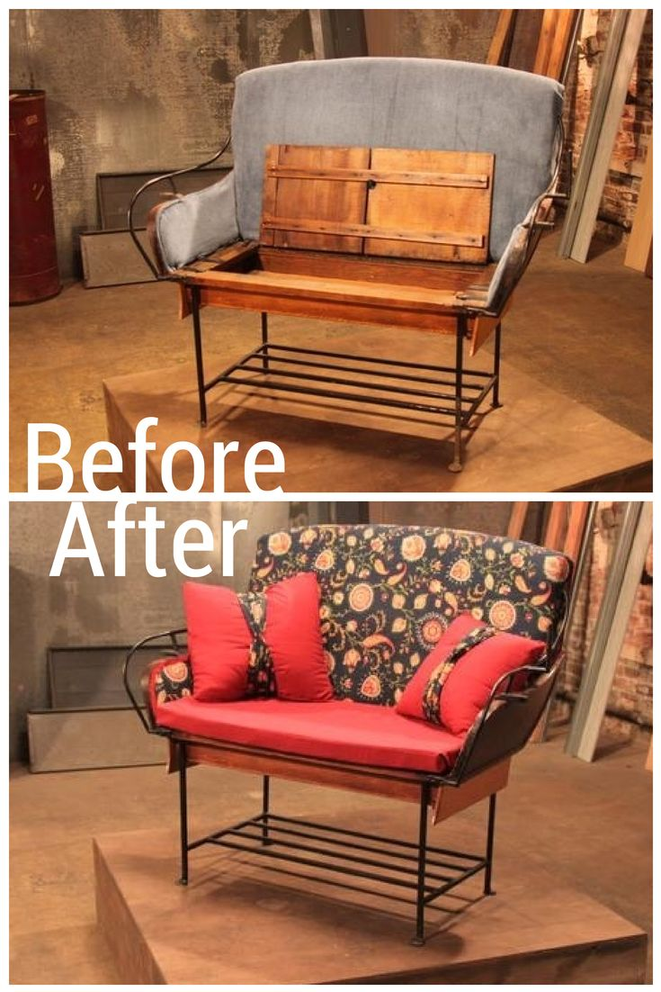 An Old Carriage Seat Transforms into Comfy, Chic SeatingDiy Crafts Ideas, Seats Transformers, Furniture Rehab, Chic Seats, Projects Diy, Crafty Diy, Carriage Seats