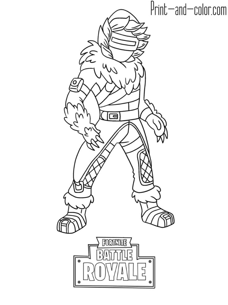 Fortnite Battle Royale Coloring Page Zenith Skin In 2019