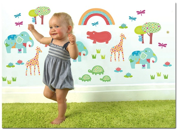 Reusable Animal Wall Stickers for Baby