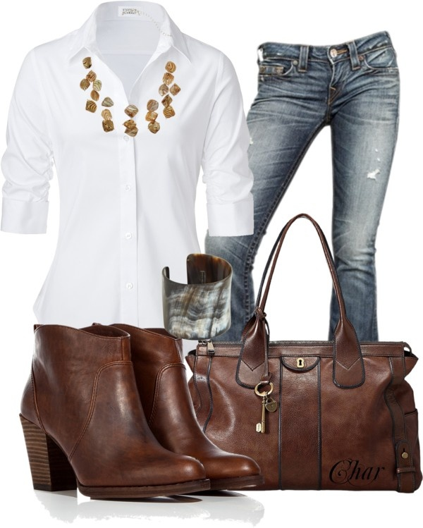 White Blouse Polyvore Outfits 90