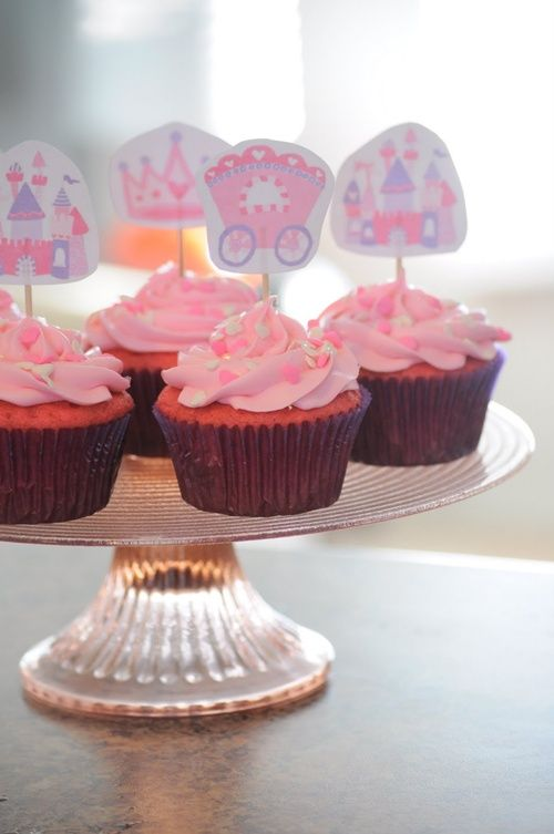 Cupcakes de princesas: ¡qué preciosidad!