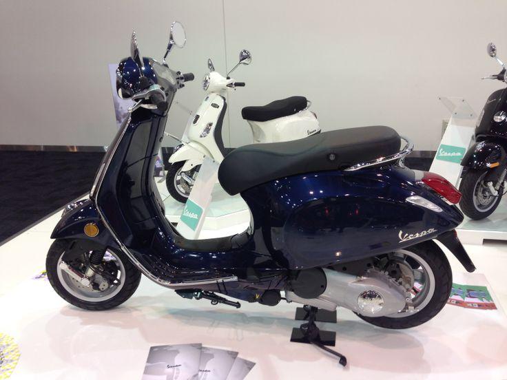 Vespa Primavera  Read the story here: http://motorbikewriter.com/new-models-at-moto-expo/