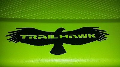 JEEP TRAILHAWK HAWK WITH TRAILHAWK IN WINGS DECAL STICKER Vinyl Accessory