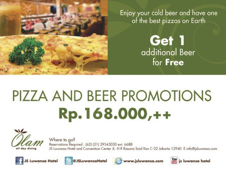 Pizza and Beer Promotions #jsluwansa #promotion #pizza #beer #food #beverage