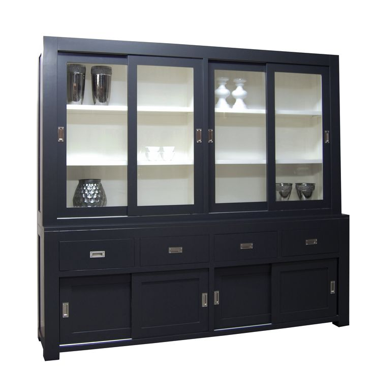 glaskast 4 drs 3 la €2.789,- 220x240x 50 cm #meubls #kast #black #cabinet #maatwerk #accessories #wood #woodworking #eiken #MDF #interior #styling #interiorstyling #natural #home #wonen #living #lifestyle #luxuryliving #interieuradvies #interieurinspiratie #livingroom #living #interior4all #design #designhome #mooiwonen #dutchdesign #madeinholland