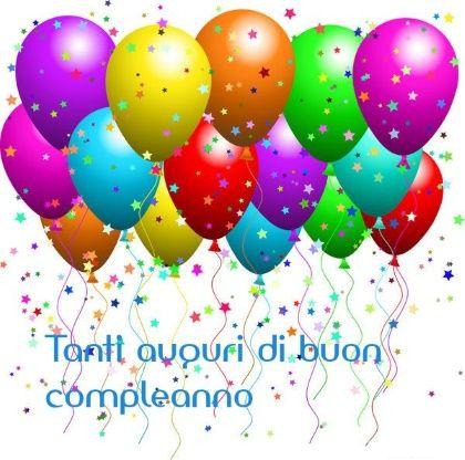auguri di buon compleanno palloncini