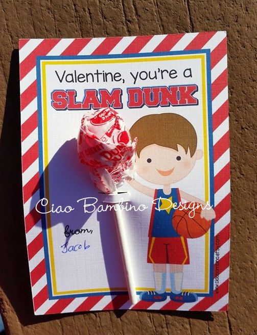 1000 images about Riley valentine – Basketball Valentine Cards