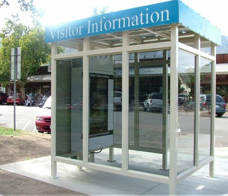 Kernville visitor kiosk in a sun shelter