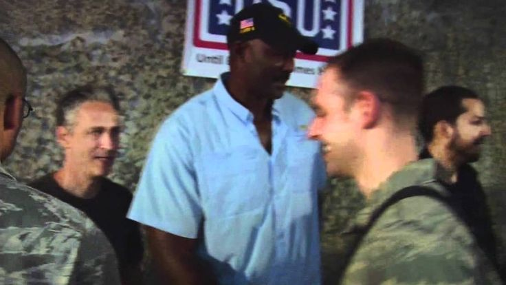 Jon Stewart, David Blaine and Karl Malone Visit the Troops | Footage of Jon Stewart, David Blaine and Karl Malone visiting and interact with deployed troops in Bagram Airfield, Afghanistan. Provided by American Forces Network Afghanistan.