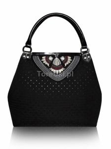Pikowana torebka GOSHICO z haftowaną klapą DESTINY