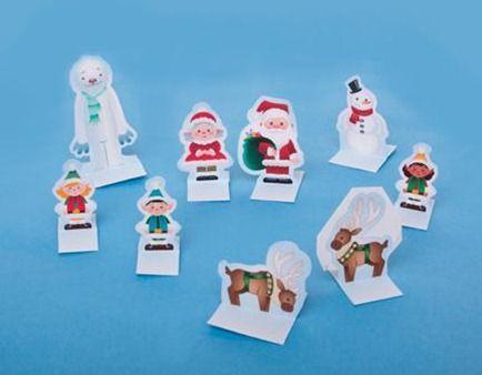 Aquí os dejo unas cuantas figuritas de navidad recortables para imprimir, recortar y montar. Figurita de Navidad recortable: Santa Claus Para imprimir esta figurita de navidad recortable de Santa Claus en 3D tan solo tienes que pinchar sobre la imagen...