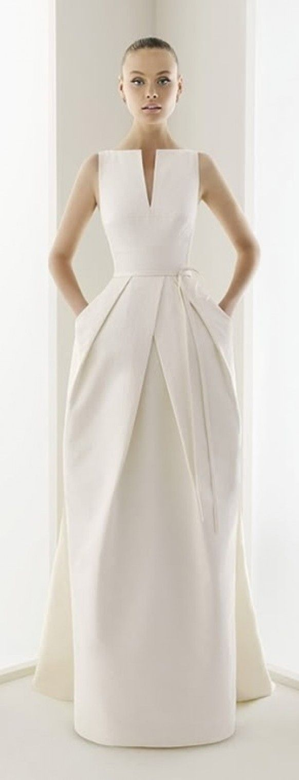 sophisticated wedding dress - simple and beautiful classic wedding dresses http://www.pinterest.com/JessicaMpins/