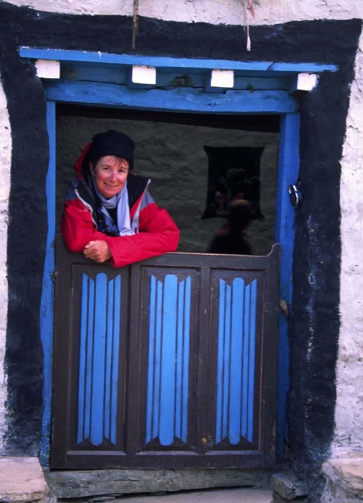 In Mustang - wearing about 5 layers of clothes