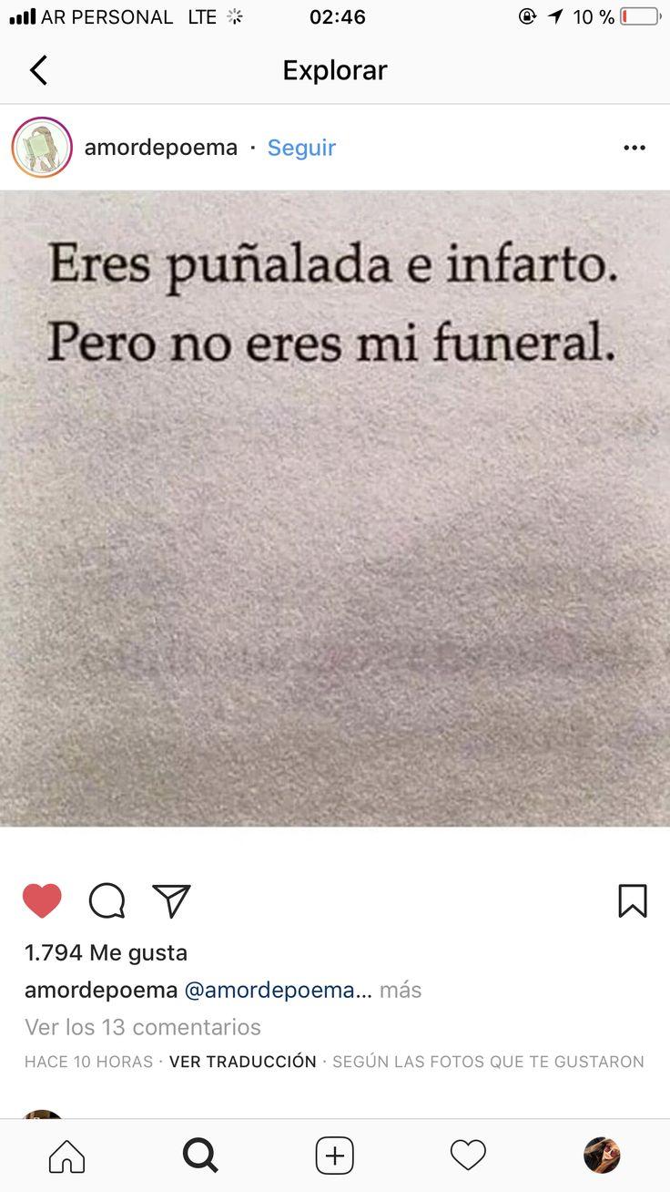No mi funeral...