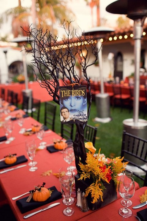 halloween wedding reception idea - Halloween Themed Wedding Reception