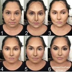 facial contouring makeup for round face