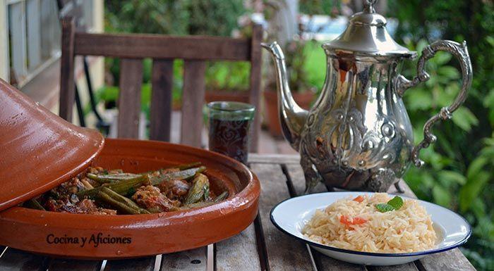 """Estofado de cordero con bamia (ocra) y arroz Mufalfa para """"Cocinas del Mundo"""", …   – Carne, aves, conejo, cordero-……"""