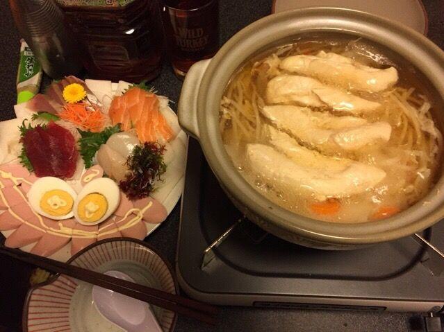 筋肉がササミを欲したので・・・❗️ ( ^_^)/~~~ - 92件のもぐもぐ - ササミのコンソメスープ、お刺身盛り合わせ、魚肉ソーセージ、ゆで卵❗️꒰#'ω`#꒱੭✨ by scorpion