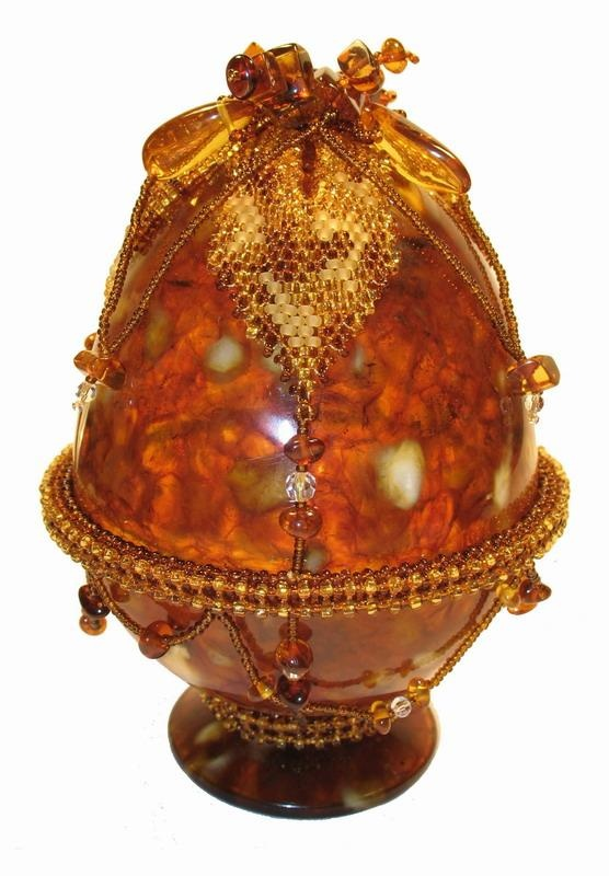Beautiful egg made of Russian amber.Orange, Fabergé Eggs, Beautiful Eggs, Brown, Imperial Fabergé, Faberge Eggs Crystal