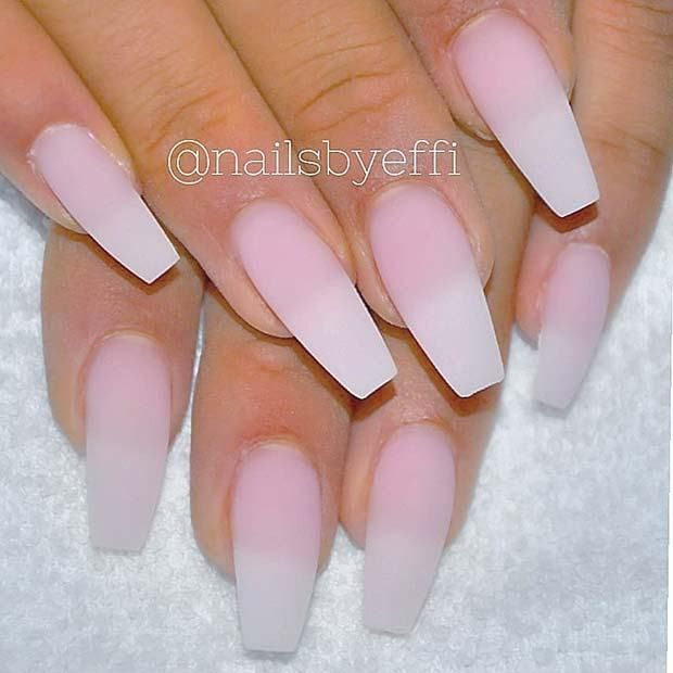 10 Matte Coffin Nails You Need To Try Right Now Almond Acrylic