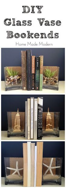 Home Made Modern: DIY Glass Vase Bookends