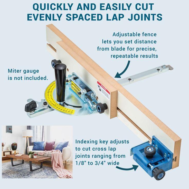 Rockler Cross Lap Jig in 2020 | Woodworking hardware, Jig ...