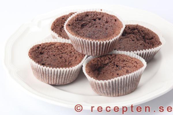 Kladdmuffins - recept chokladmuffins, kladdkakemuffins