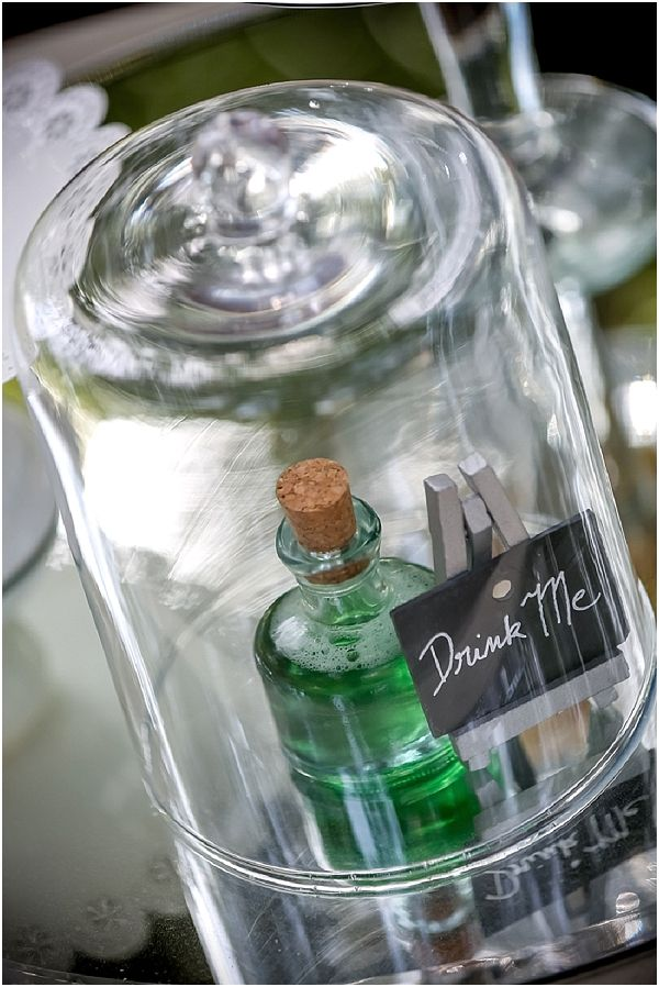 """Drink Me Potion"" Centerpiece for Alice in Wonderland Weddings  