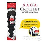 Milky Way Saga 100% Human Hair Crochet Braid - STANDARD TYPE LOOSE DEEP