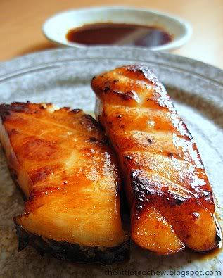 I found a recipe to make my own teriyaki sauce. Soya Sauce, sugar and Mirin. Voila! Going to try it sometime.