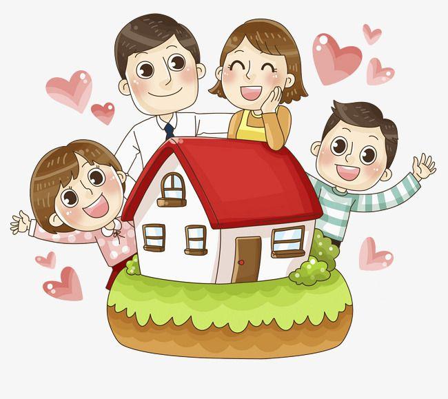 Calida Familia Familia De Tres Familia Silueta Disenos De Dibujo