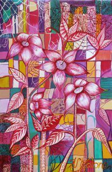Spiderweb-Original Painting on Stretched Canvas Artist: Malone, Naomi Artwork title: Spiderweb Price: $330