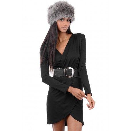Black Over Wrap Dress