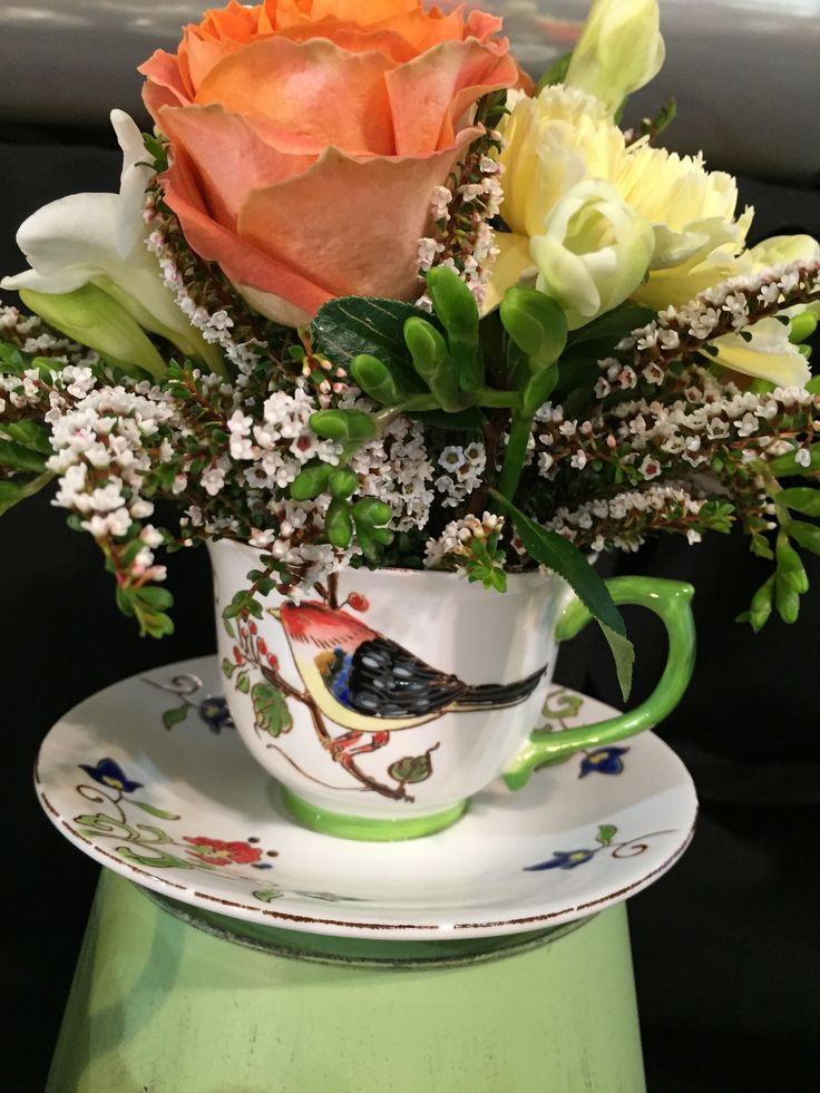 Gorgeous tea cup and saucer with a little posy