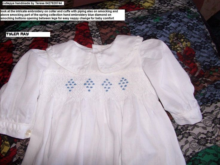 tylor ray is smocked cutiepye creation extensive hand embroidery 0427820744 $120..pls ring dont email