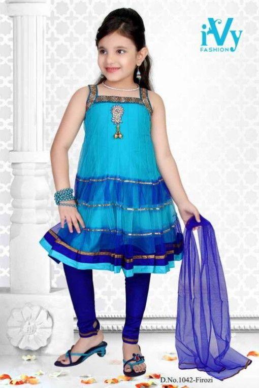 Trade-india-Summer-Anarkali-Beautiful-Cute-Eid-Dresses-2013-For-Kids-Childrens-3