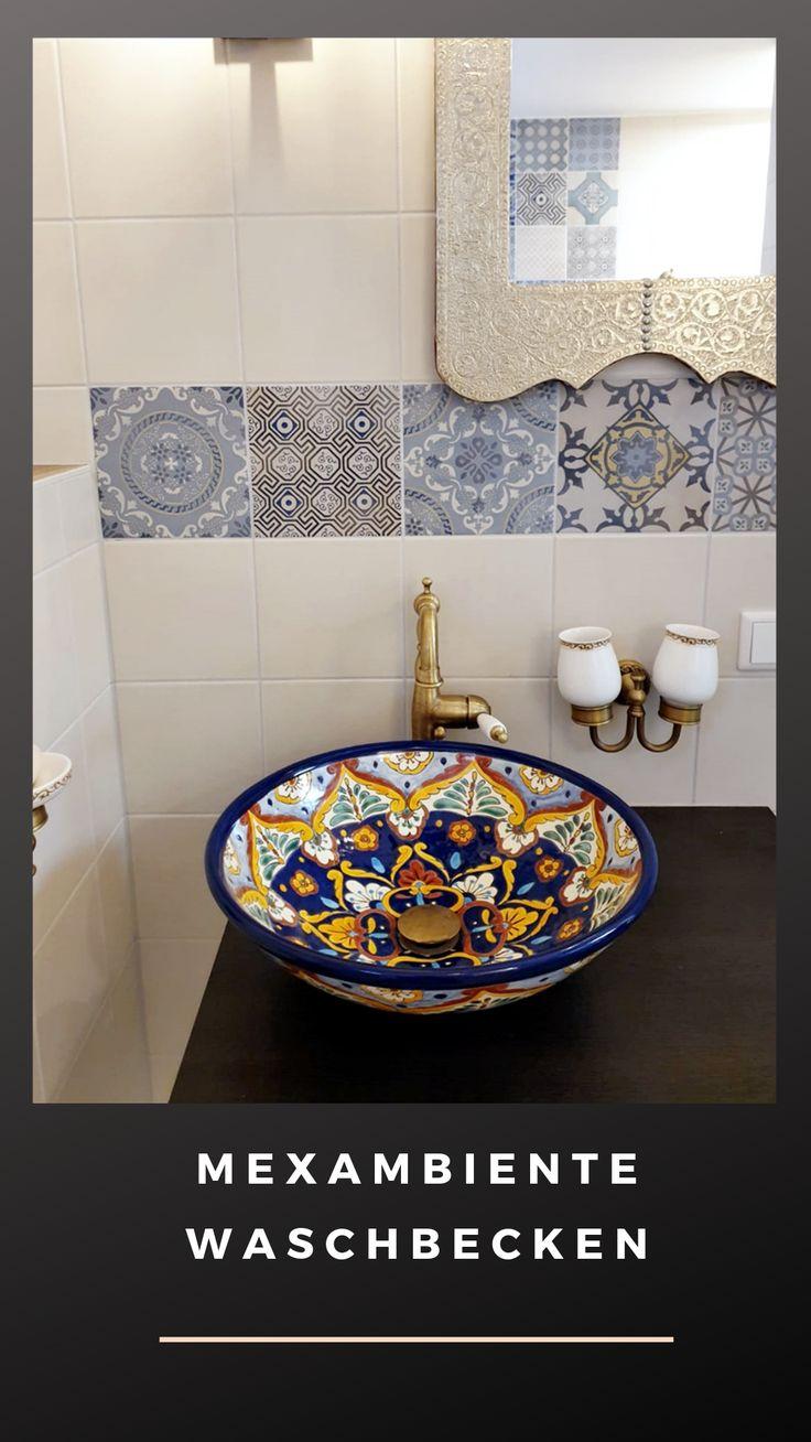 Gästebad verschönen! Mexiko Waschbecken ACAPULCO