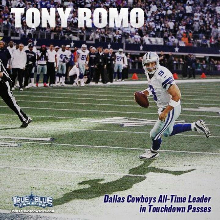 Tony Romo cowboys all time td pass leader