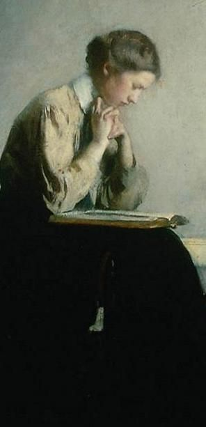 EDMUND C. TARBELL (1862-1938) Girl Reading Repinned by Ellery Adams  www.elleryadamsmysteries.com