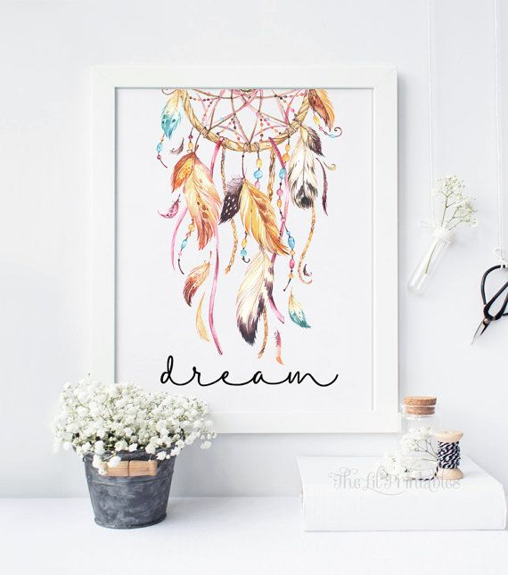 Dream Dreamcatcher Printable Wall Art Decor By TheLilPrintables