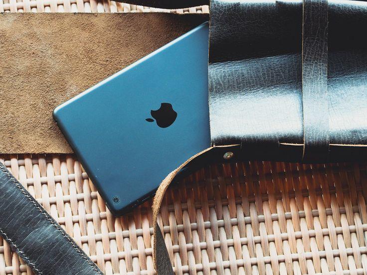 Leather Base Bag (Size of iPad Mini)