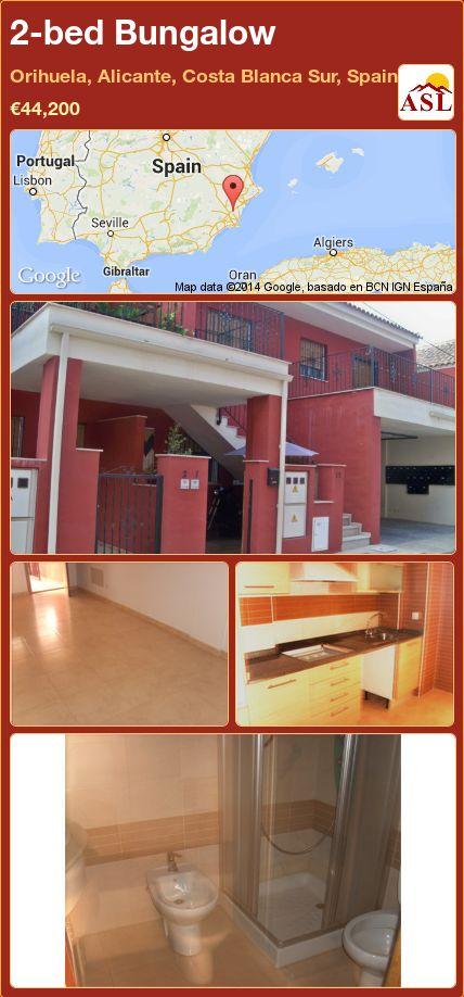 2-bed Bungalow in Orihuela, Alicante, Costa Blanca Sur, Spain ►€44,200 #PropertyForSaleInSpain