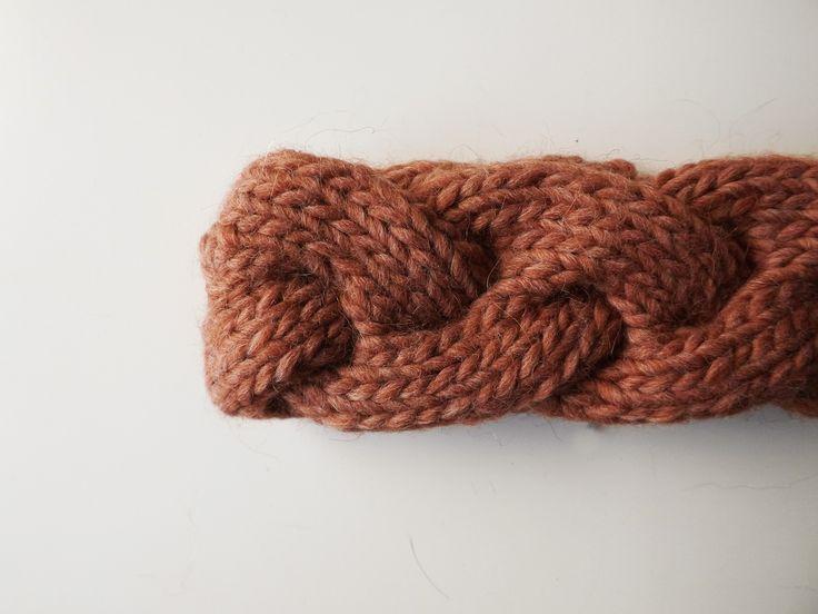 JANIS | Fascia a treccia color terracotta interamente lavorata a mano, 15€ handmade by dolcedormireknitwear