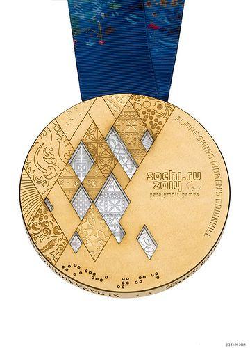 Sochi 2014 Paralympic gold medal Олимпийские зимние игры Sochi 2014