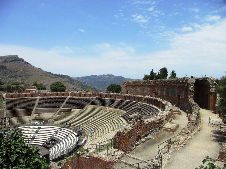 Řecký amfiteátr v Taormině - Sicílie - Itálie