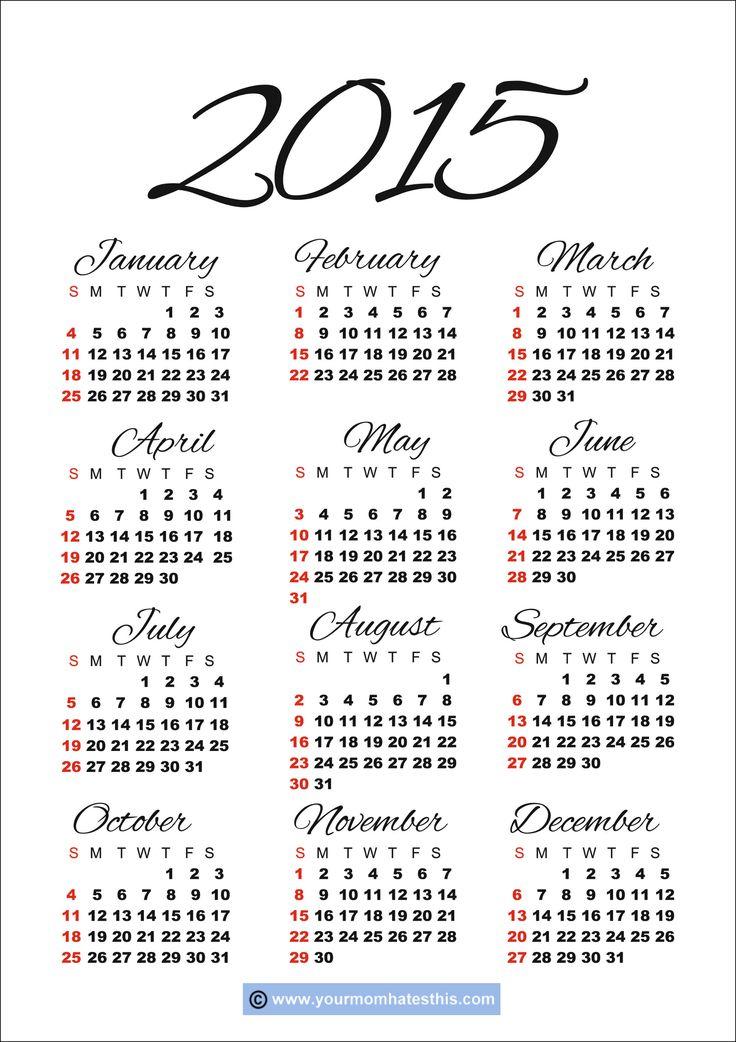 2015 calendars | 2015 Calendar Holidays