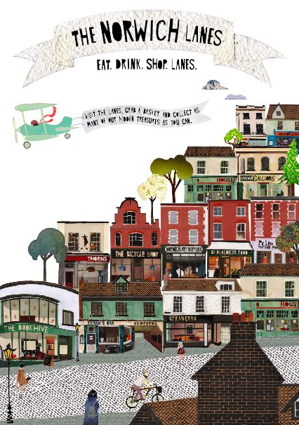 Norwich Lanes - by the talented Poppy Charlotte Cole