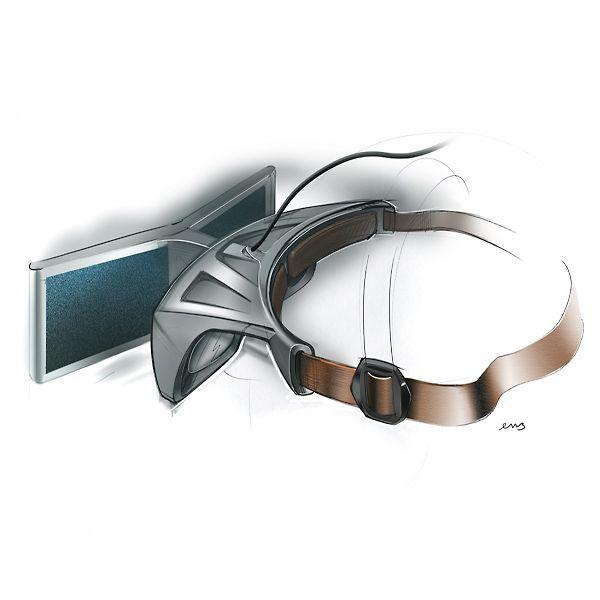3d glasses design sketch